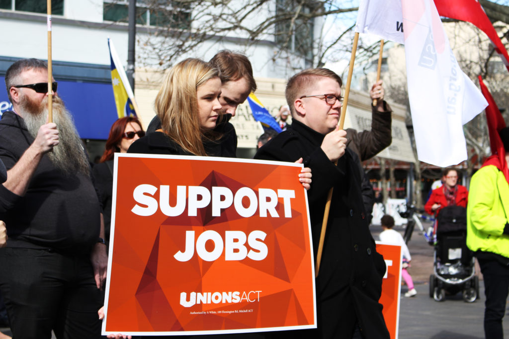 Support Jobs - UnionsACT 2015 rally