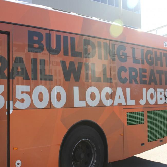 Light Rail Will Help Create 3,500 New Local Jobs