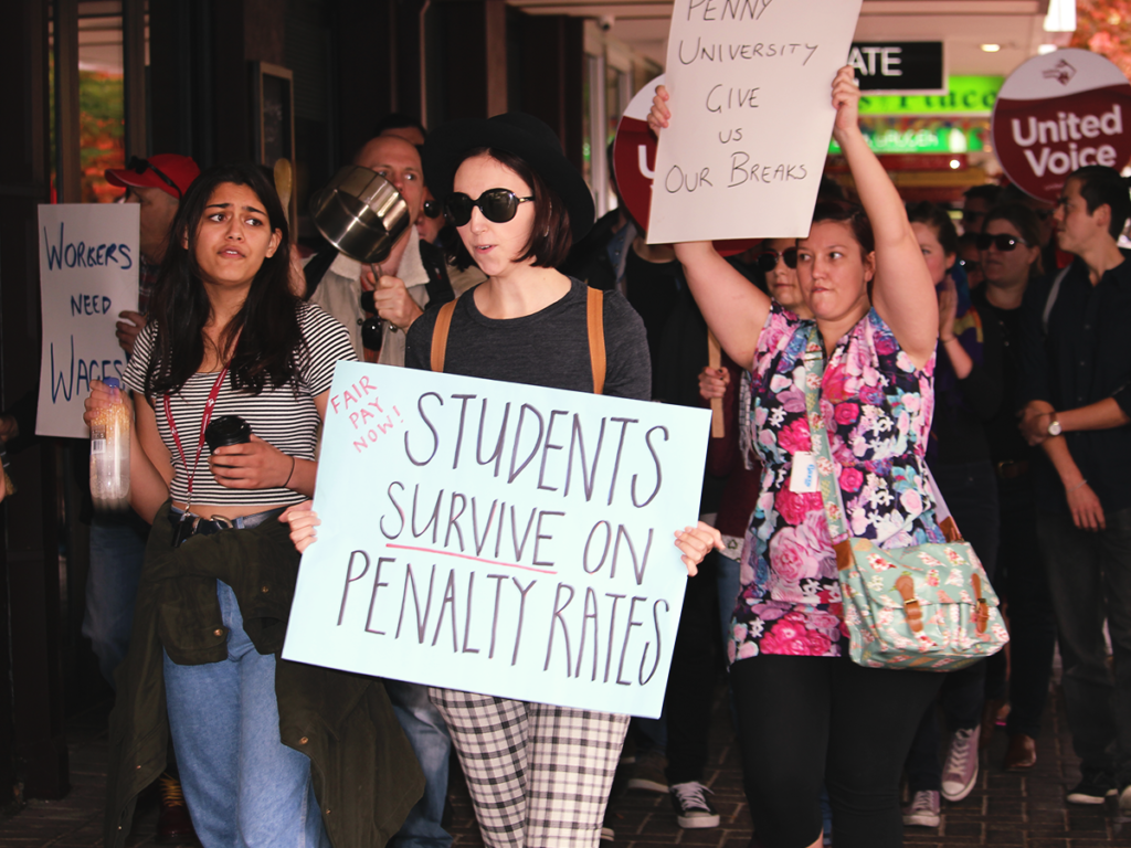 Penalty Rates March - Penny University 2015