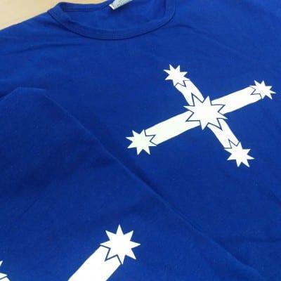 Eureka Flag - t-shirt detail