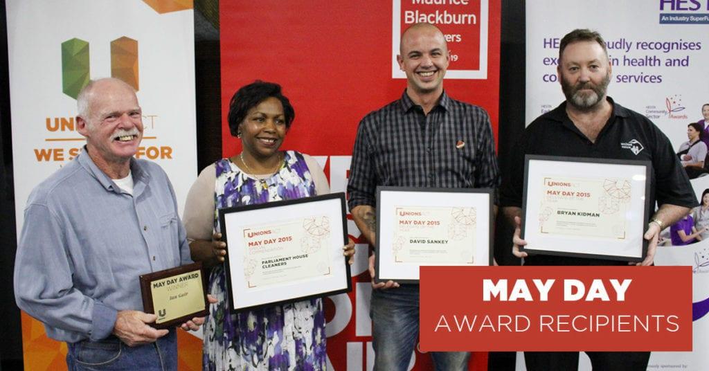 May Day Award Recipients 2015