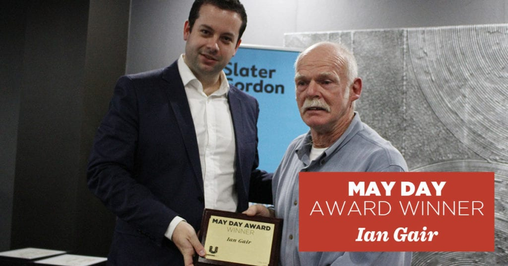 May Day Award Winner Ian Gair
