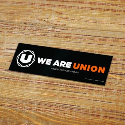We Are Union sticker