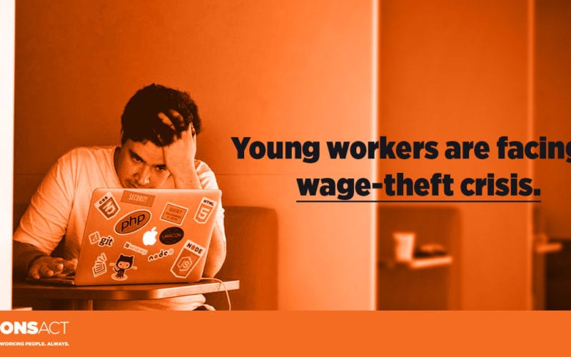 The wage-theft crisis facing young workers